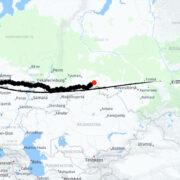 Bratsk-route-kartta
